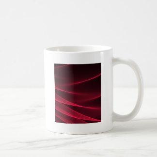 Carmesí rojo del flujo abstracto taza clásica