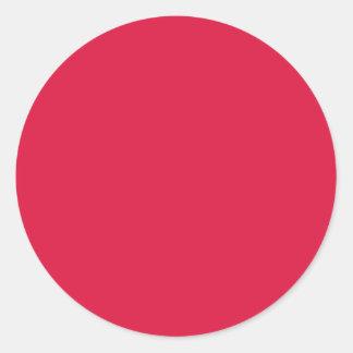 Carmesí sólido pegatina redonda