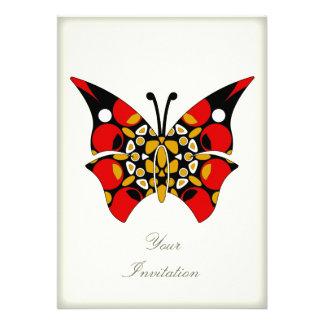Carmesí y mariposas del oro anuncios personalizados