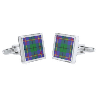 Carmichael Clan Tartan Plaid Cufflinks