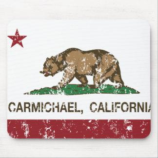 carmichael de la bandera de California apenado Tapetes De Ratones