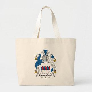 Carmichael Family Crest Canvas Bags
