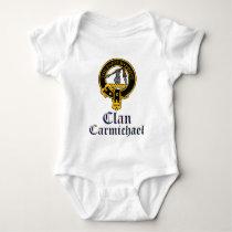 Carmichael Scottish Crest Tartan Clan Name Clothes Baby Bodysuit