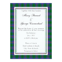 Carmichael Scottish Wedding Invitation