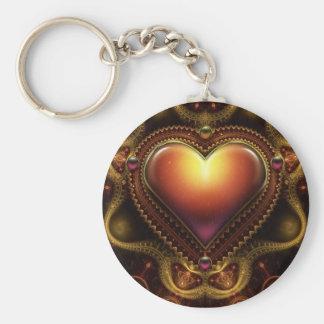 Carmila's Jewel Basic Round Button Keychain