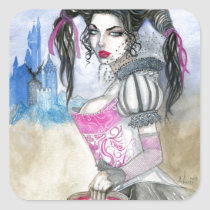carmilla, blood, goth, gothic, vampire, castle, hazy, beautiful, beauty, gorgeous, 16th, century, alluring, Sticker with custom graphic design