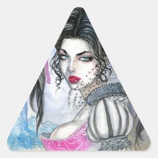 Carmilla Triangle Sticker