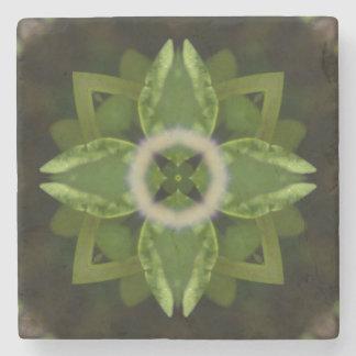 Carmín 5, en calmar tonalidades verdes posavasos de piedra