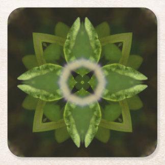 Carmín 5, en calmar tonalidades verdes posavasos desechable cuadrado