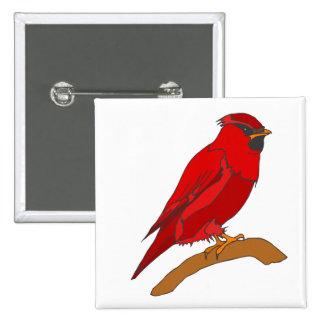 Carmine Cardinal Button