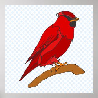 Carmine Cardinal Poster