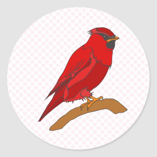 Carmine Cardinal Sticker