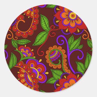 Carmine Classic Round Sticker
