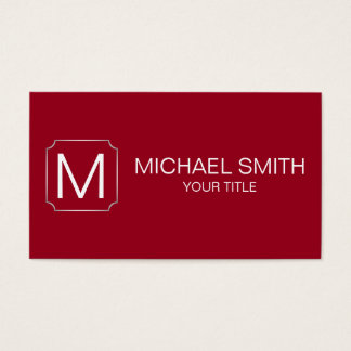 Carmine color background business card