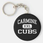 Carmine - Cubs - High School - Carmine Texas Keychain