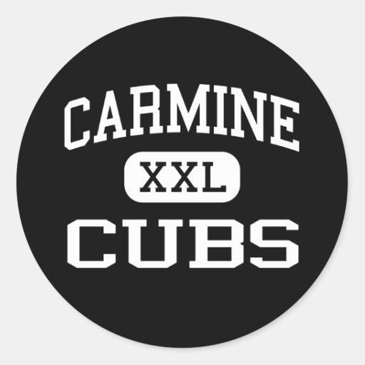 Carmine - Cubs - High School - Carmine Texas Classic Round Sticker