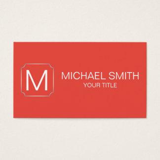 Carmine pink color background business card