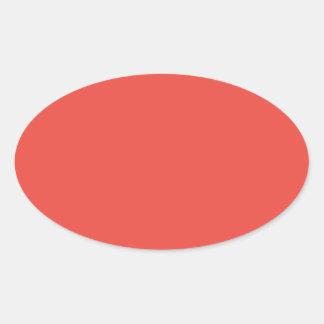Carmine Pink.png Oval Sticker
