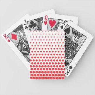 Carmine Pink Polka Dot Modern White Bicycle Playing Cards
