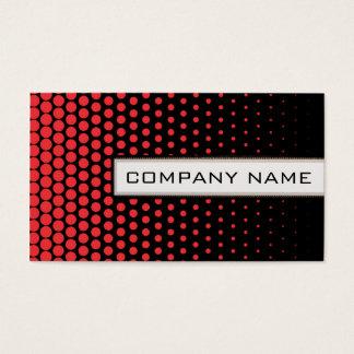 Carmine Pink Polka Dots Elegant Modern Black Business Card