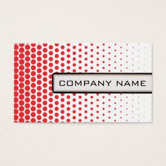 Carmine Pink Polka Dots Elegant Modern White Business Card