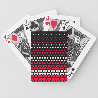 Carmine Red and White Polka Dot Bicycle Playing Cards