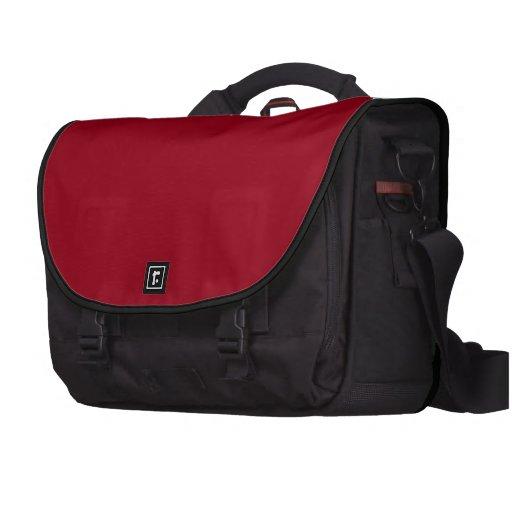 Carmine Red Black Laptop Case Commuter Bag