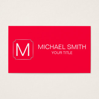 Carmine red color background business card