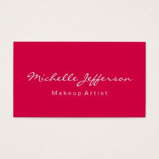 Carmine Red Makeup Artist Unique Business Card