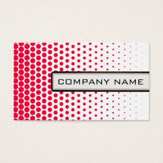 Carmine Red Polka Dot Elegant Modern White Business Card