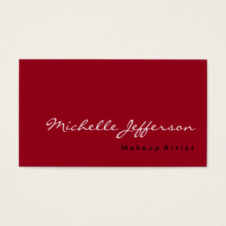 Carmine Red Trendy Professional Business Card