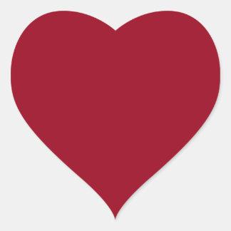 Carmine Stylish Monochromatic Heart Sticker