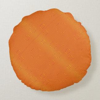 Carnaby Orange Round Pillow