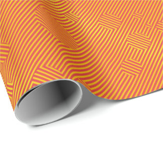 Carnaby orange wrapping paper