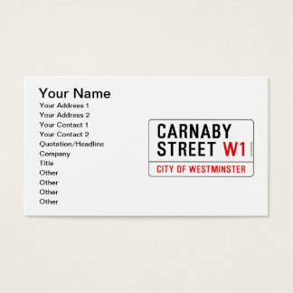 Carnaby Street Business Card