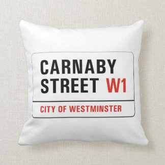 Carnaby Street, London Street Sign Throw Pillows