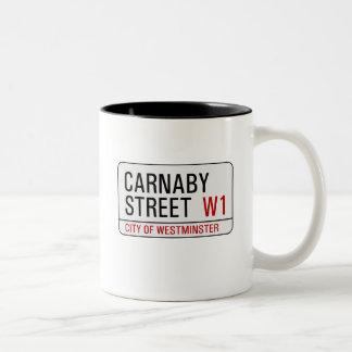 Carnaby Street sign Two-Tone Coffee Mug