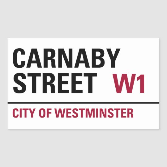 Carnaby Street Sign (pack of 4) Rectangular Sticker
