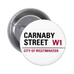 Carnaby Street Sign Pinback Buttons