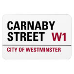 Carnaby Street Sign Rectangular Magnets