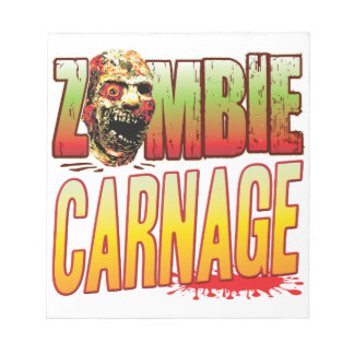 Carnage Zombie Head Memo Note Pads