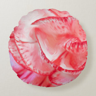 Carnation Brushed Polyester Round Throw Pillow