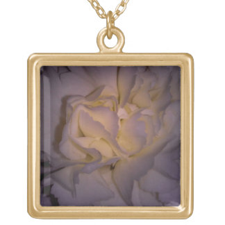 Carnation Close-up Gold Plated Necklace