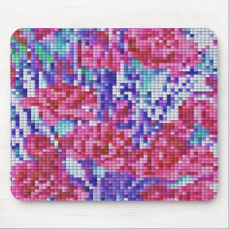 Carnation Crosstitch Mouse Pad