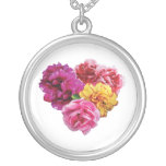 Carnation Heart Mixed Colors Custom Necklace