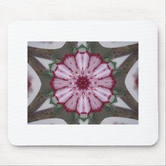 Carnation Kaleidoscope Mouse Pad