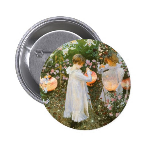 Carnation, Lily, Lily, Rose By John Singer Sargent 2 Inch Round Button