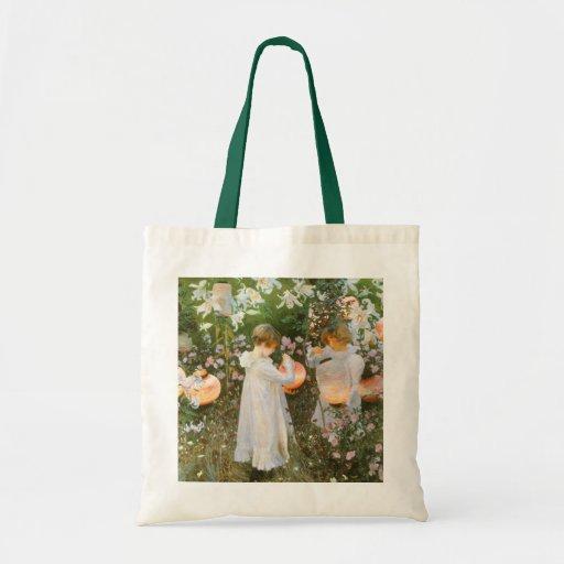 Carnation, Lily, Lily, Rose By John Singer Sargent Canvas Bag