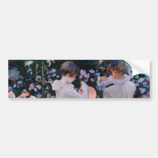 Carnation, Lily, Lily, Rose by John Singer Sargent Car Bumper Sticker
