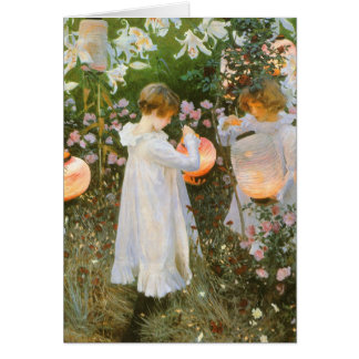 Carnation, Lily, Lily, Rose By John Singer Sargent Card